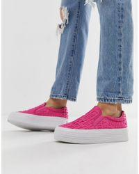Juicy Couture Slip On Logo Sneakers - Pink