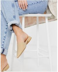 Truffle Collection Pointed Mules - Natural