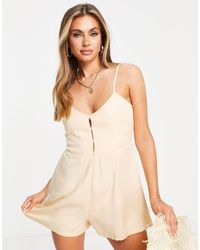 RVCA Woodstock Playsuit - White