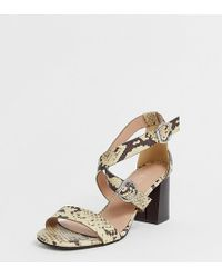 889b230868a New Look - Wide Fit Multi Strap Heeled Sandal In Animal Print - Lyst
