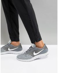 Nike - Flex Contact Trainers In Grey 908983-011 - Lyst