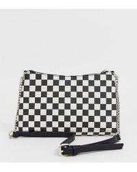 Bershka Printed Shoulder Bag In Multi - Black