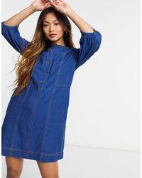 Whistles Alria - Robe en jean - Bleu