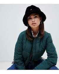 311843eb9e3 Kangol - Faux Fur Casual Bucket Hat In Black - Lyst