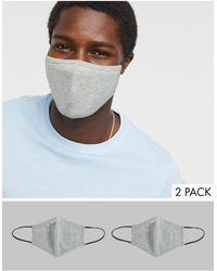 ASOS Confezione da 2 mascherine - Grigio