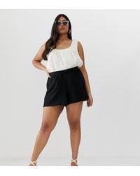 ASOS Asos Design Curve Culotte Shorts - Black