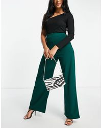 I Saw It First High Waist Pants Co-ord - Green