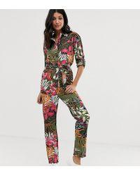 ASOS Tropical Print Boilersuit - Multicolour