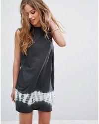 RVCA - Sleeveless Swing Dress With Tie Dye Panel - Lyst