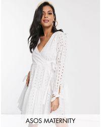 ASOS - Asos Design Maternity - Gelaagde Mini-jurk - Lyst