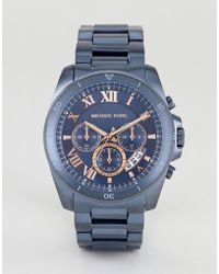 Michael Kors - Mk8610 Brecken Chronograph Bracelet Watch In Blue 44mm - Lyst
