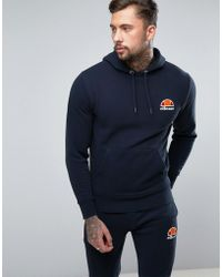 95021ed5 Ellesse Lounge Zip Through Hoodie With Small Logo In Red for ...