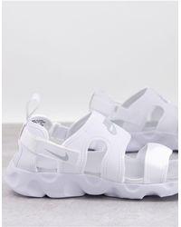 Nike Белые Сандалии Owaysis-белый