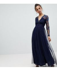 ASOS - Lace Maxi Dress With Long Sleeves - Lyst