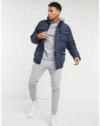 Threadbare Padded Jacket - Blue