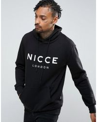 Nicce London Hoodie In Black With Large Logo