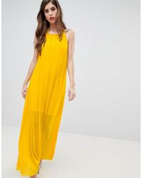 French Connection | Plisse Halter Maxi Dress | Lyst