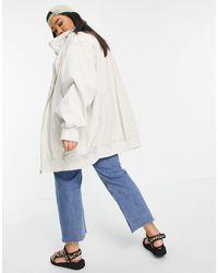 ASOS Светло-бежевая Выбеленная Куртка Удлиненного Кроя - Многоцветный