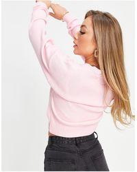 UNIQUE21 - Розовый Кардиган С V-образным Вырезом -розовый Цвет - Lyst
