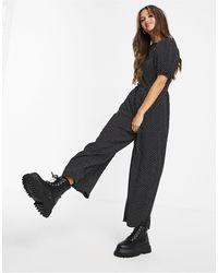 Missguided Culotte Jumpsuit - Black