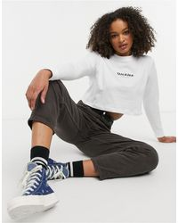 Dickies Central 1922 Cropped Long Sleeve T-shirt - White