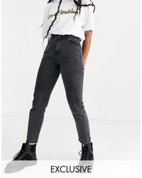Noisy May - – Knöchellange Mom-Jeans - Lyst