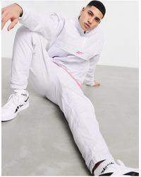 Reebok Training Quilted Half Zip Jacket - White