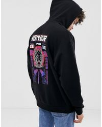 ASOS - Oversized Hoodie With Honour Back Print - Lyst