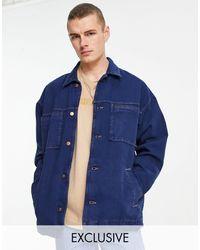 Reclaimed (vintage) Inspired Denim Jacket - Blue