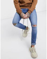 Dr. Denim Snap - Jeans skinny strappati - Blu