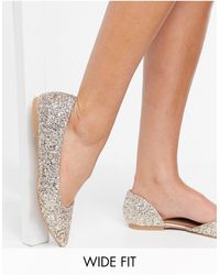 ASOS Wide Fit Virtue D'orsay Pointed Ballet Flats - Pink