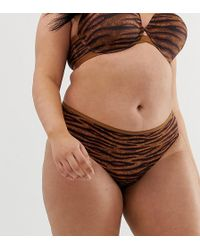 a01b08e919a7 Savage x Fenty - Curvy Animal Print Hipster Knickers In Toffee Tiger - Lyst