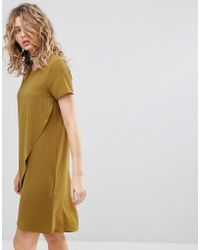 Ichi - Wrap Front Shift Dress - Lyst