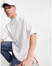 ASOS - Белая Oversized-футболка Из Трикотажа Средней Плотности - Lyst