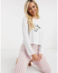 In The Style Розовая Пижама В Полоску X Billie Faiers-мульти - Многоцветный