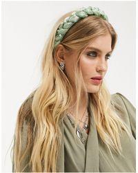 TOPSHOP Padded Organza Headband - Green