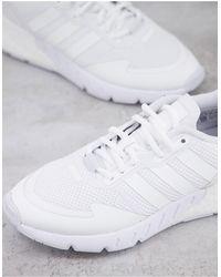 adidas Originals - Белые Кроссовки С Тремя Полосками Zx 1k Boost-белый - Lyst