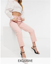 Reclaimed (vintage) - Inspired - The '91 - Mom jeans lavaggio rosa - Lyst