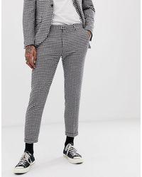 Heart & Dagger Pantaloni da abito skinny a quadretti - Multicolore