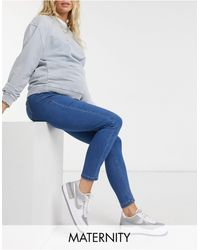 Missguided Over The Bump Vice Skinny Jean - Blue