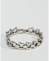 Steve Madden - Horseshoe Link Bracelet - Lyst