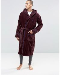 Ted Baker - Dressing Gown - Red - Lyst