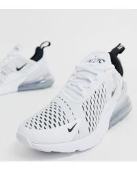 Nike White And Black Air Max 270 Trainers