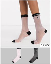 Karl Lagerfeld Набор Из 2 Пар Прозрачных Носков -мульти - Черный