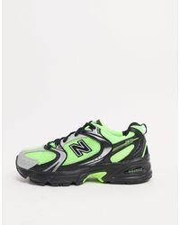 New Balance Зеленые Кроссовки 530 Hi Viz-зеленый