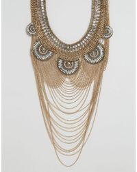 ALDO | Borgdanoff Statement Necklace - Gold | Lyst
