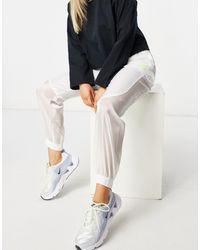Nike Air - Doorschijnende joggingbroek - Wit