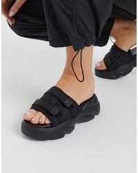 ASOS Fortress Chunky Sporty Sandals - Black