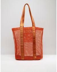 ASOS - Lifestyle Mesh And Webbing Shopper Bag - Lyst