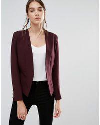 Closet Closet Tuxedo Style Jacket - Red